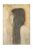 Girl with Long Hair in Profile