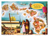 Aloha Airlines Route Map of the Hawaiian Islands
