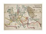Satirical Map - Komische Karte des Kriegsschauplatzes