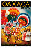 Oaxaca  Mexico - Costumed Native Dancers