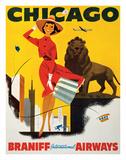 Chicago the Windy City - Braniff International Airways