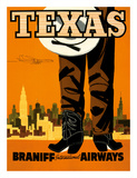 Texas - Braniff International Airways - Cowboy