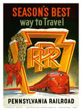 Season's Best Way to Travel - Pennsylvania Railroad