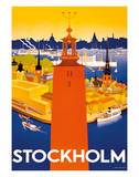 Stockholm - Sweden - Port of Stockholm and City Hall