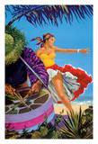 Caribbean - Native Drummer and Dancer - British Overseas Airways Corporation  BOAC