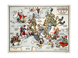 Satirical Map - Summer Review of Europe  1915