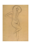 Standing Female Nude with Raised Right Leg