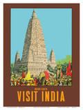 Visit India - Bodh Gaya - Mahabodhi Temple - Bihar  India
