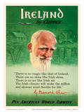 Ireland by Clipper - Pan American World Airways - George Bernard Shaw