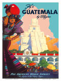 Guatemala by Clipper - Pan American World Airways - Tikal Mayan