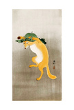 Dancing Fox with Lotus-Leaf Hat
