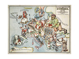 Satirical Map - Compact Overview of European Spring  191
