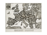 Satirical Map - Europe in the World War 1914