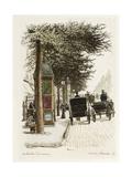 Boulevard Poissonnière: Voitures  Chaussées
