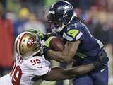 NFL Playoffs 2014: Jan 19  2014 - 49ers vs Seahawks - Marshawn Lynch