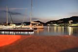 Cruiser of the Nagasaki Harbor Late at Night