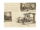 Gardener with a Wheelbarrow and Interior with a Woman Sewing and Weaver