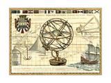 Carte nautique I Reproduction d'art par Deborah Bookman