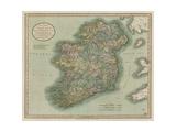Vintage Map of Ireland Reproduction d'art par John Cary