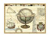 Carte nautique II Reproduction d'art par Deborah Bookman
