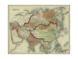 Small Antique Map of Asia
