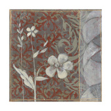 Taupe and Cinnabar Tapestry I