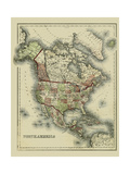Small Antique Map of North America