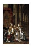 La Consagración De San Ambrosio Como Arzobispo  Ca 1673