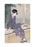Mujer Sentada En Una Veranda  Ca 1798