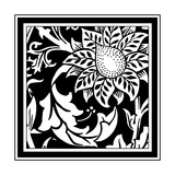 B&W Graphic Floral Motif II
