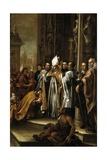 San Ambrosio Absolviendo Al Emperador Teodosio  Ca 1673