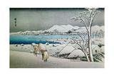 Paisaje Nevado  Grabado Japones