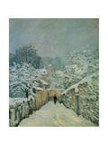 Snow in Louveciennes  1878
