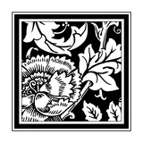 B&W Graphic Floral Motif III
