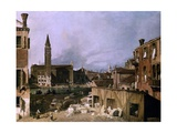 Venice  View of the Campo San Vidal and Santa Maria De La Caridad  1730