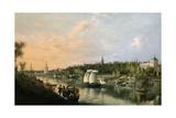 El Guadalquivir a Su Paso Por Sevilla  1851