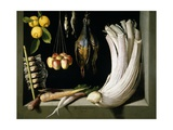 Still Life with Game  Vegetables and Fruit  1602