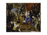La Virgen Con El Niño Entre Las Virtudes Teologales Y Santos  1669