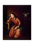 Child Madonna Asleep  1664