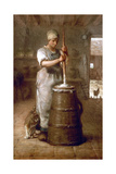 Churning Butter  1866-1868