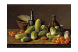Still Life with Cucumbers  Tomatoes  and Kitchen Utensils  1774