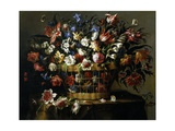 Basket of Flowers  1668-1670