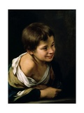 A Peasant Boy Leaning on a Sill  1670-1680