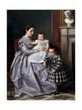 Retrato De La Familia Del Pintor  1864-1865