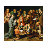 Saint Diego of Alcala Feeding the Poor  1645-1646