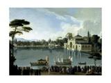 Embarque Real En El Estanque Grande Del Retiro  Ca 1820
