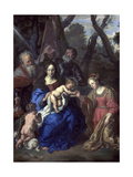 The Mystic Marriage of St Catherine  with St Leopold and St William  1647