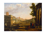 View of the Campo Vaccino  Rome  1636