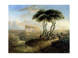 Paisaje Oriental Con Ruinas Clasicas  1842