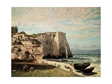 The Cliffs at Etretat after the Storm  1870